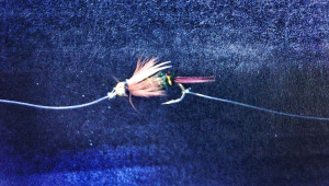 Dropper Attached to Bend of Hook - Tandem Fly Setup