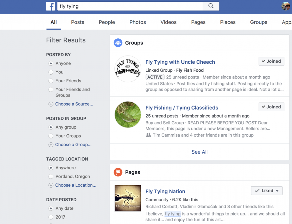 Facebook Groups - Fly Tying Tips